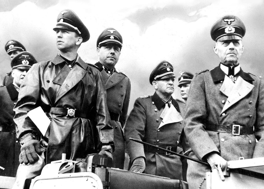 Field Marshal Rundstedt and senior SS officers.