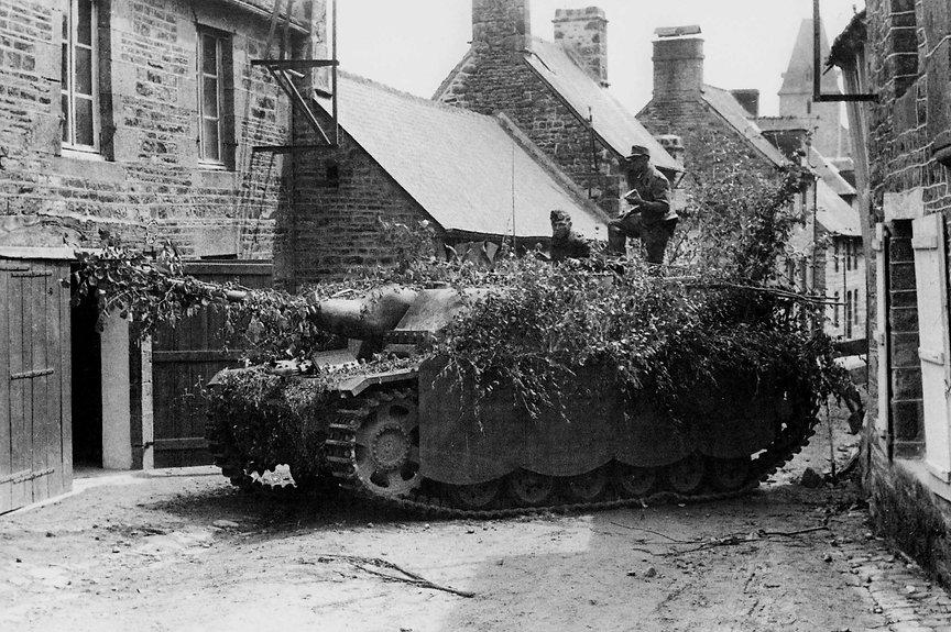 A German StuG assault gun in Normandy