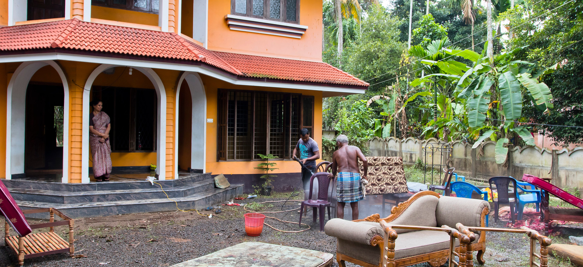 Kerala flood cleanup