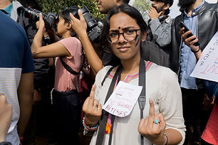 Mirika, 19 from Mumbai, makes her feelings for the BJP clear.