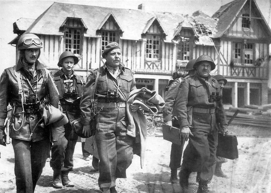 General Keller and other Canadian staff officers at Bernieres