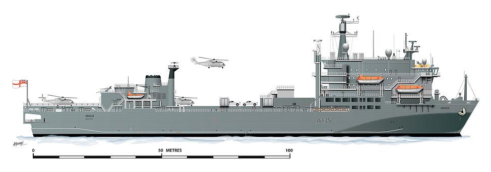 The ship, RFA Argus