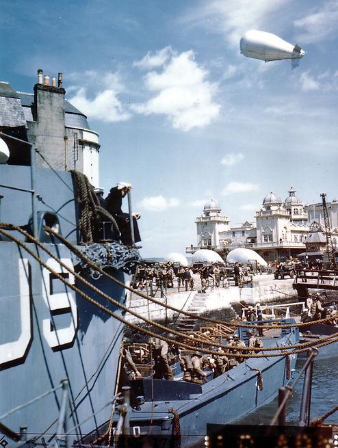 D-Day Men embark on landing craft
