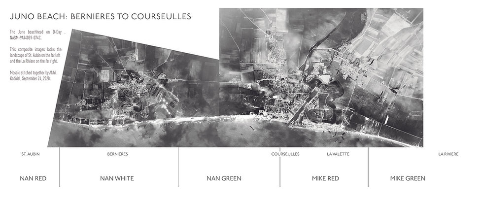 Aerial image of the Juno beach sector