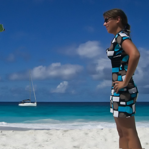 Girl, Tree, Beach