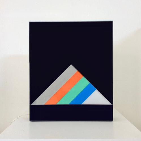 Eugenio Carmi Light Box,  Signed Artwork, 1970, Italy.