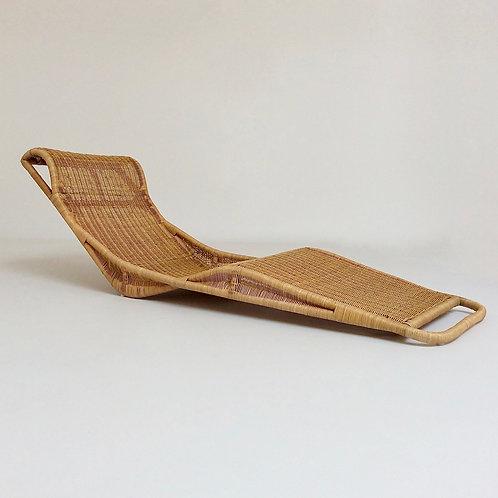 Mid-Century Rattan Lounge Chair, circa 1960, Italy.