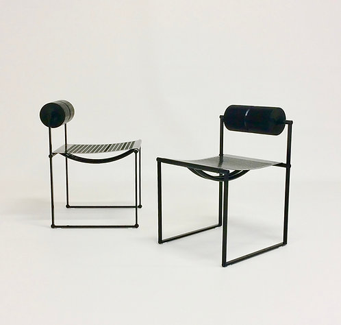 Pair of Mario Botta Prima Model Chair by Alias, 1982, Italy.