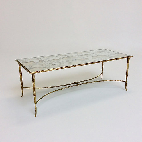 Gilt Bronze Coffee Table By Maison Charles, circa 1960, France.