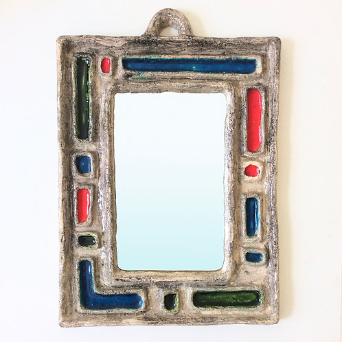 Ceramic Mirror, circa 1960, France.