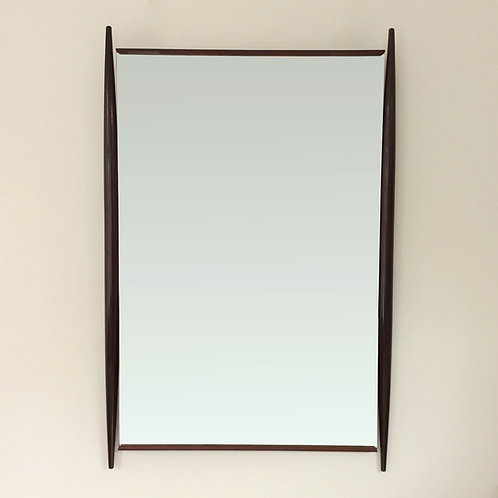Large Wood Mirror, circa 1950, Italy.