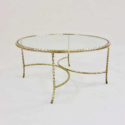 Gilt Bronze Maison Charles Coffee Table, circa 1960, France.