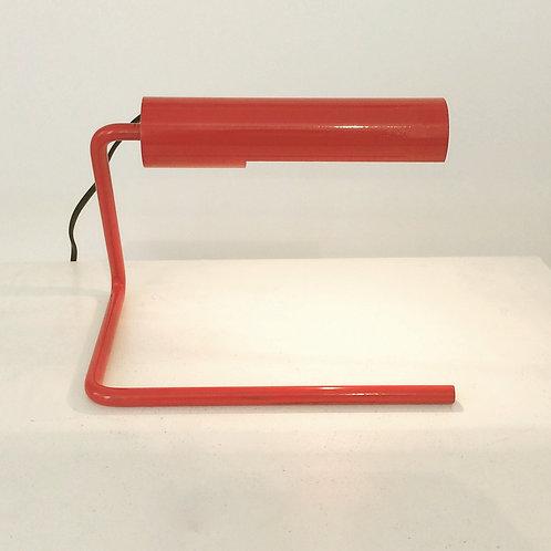 Christophe Gevers GE106 red table lamp, circa 1975, Belgium.