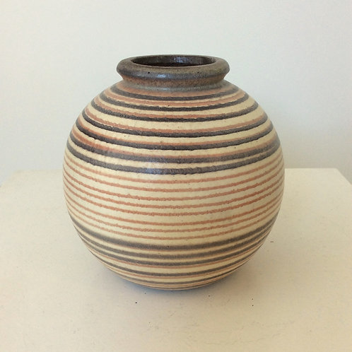 Striped Ball Vase, circa 1930, France.
