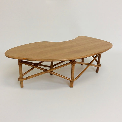 Free Form Bamboo Coffee Table, circa 1950, France
