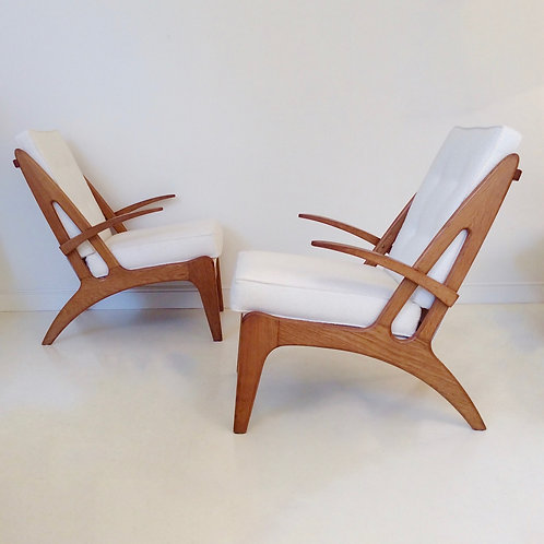 Pair of Armchairs, attributed to Marcel Baugniet, c.1950, Belgium.