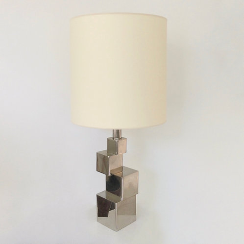 Sculptural Geometric Table Lamp, circa 1970, France.