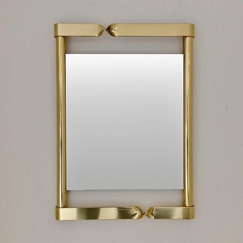 Elegant Brass Mirror, circa 1970, Italy.