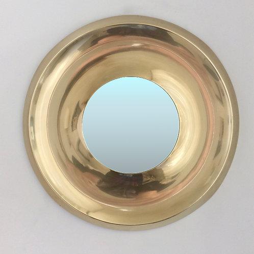 Elegant Danish Brass Mirror, circa 1970.