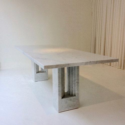 Carlo Scarpa & Marcel Breuer Delfi Marble Table, circa 1970, Italy.