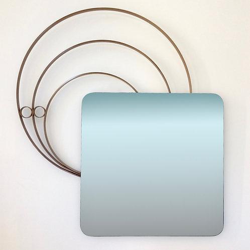 Elegant Large Decorative Wall Mirror, circa 1960, Italy.