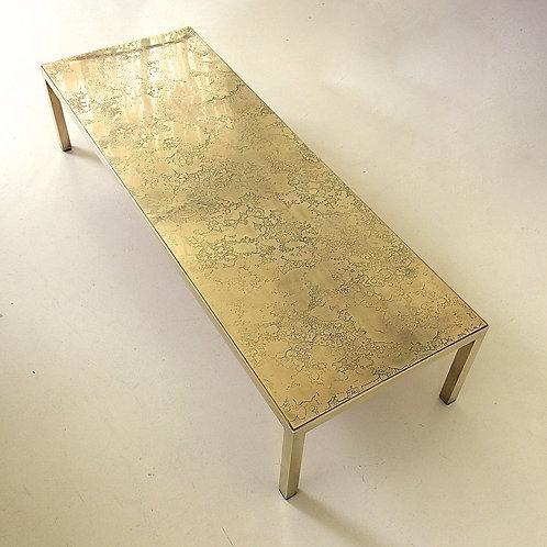 Brass Coffee Table, attributed to Georges Mathias, circa 1975, Belgium