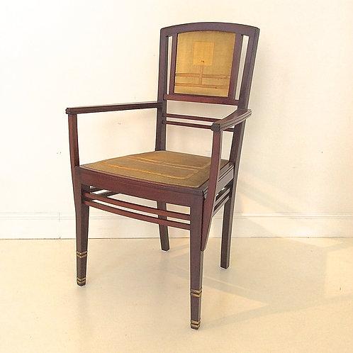 """Serrurier-Bovy Armchair """"Bach"""" Mod., 1904, Belgium."""