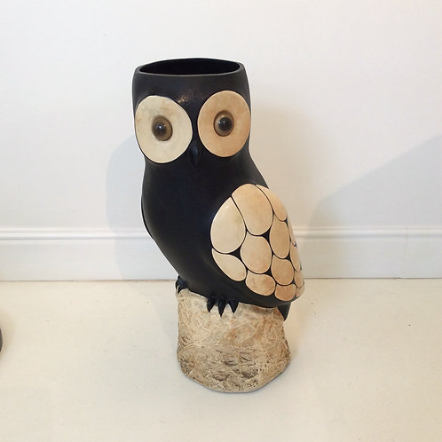 "Umbrella stand ""owl"", circa 1970, France."
