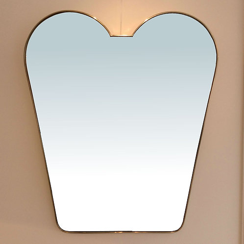 Large Brass Italian Mirror, circa 1950.