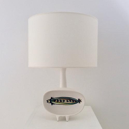Rare Roger Capron Ceramic Table Lamp, circa 1955, France.