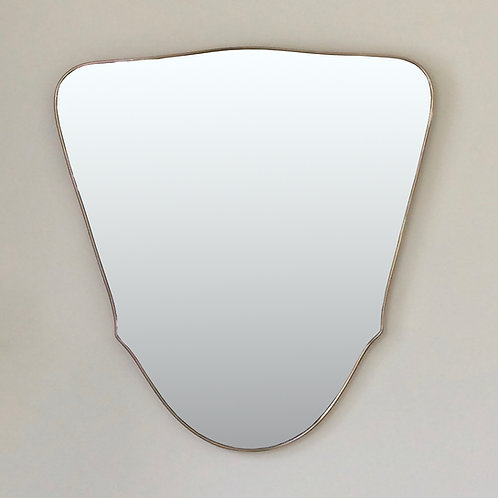 Large Mid-Century Brass Mirror, circa 1950, Italy.