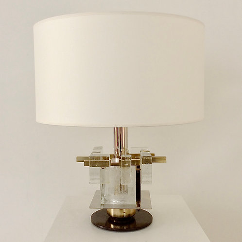 Murano Glass Table Lamp attributed to Poliarte, circa 1960, Italy.