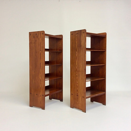Martin Nyrop, Pair of Bookcases for Rud Rasmussen, circa 1930, Denmark.