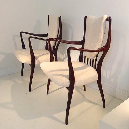 Pair of Andrew J. Milne armchairs, 1947, UK.