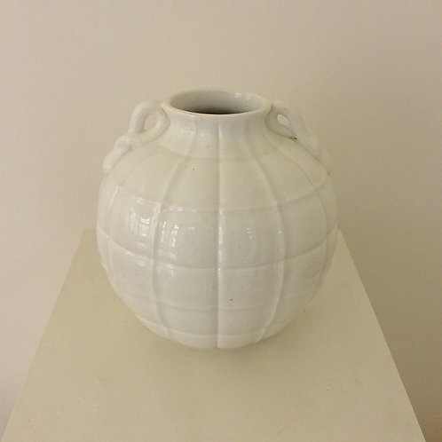 "Gio Ponti ""Quilted"" Vase by Richard Ginori, circa 1930, Italy."