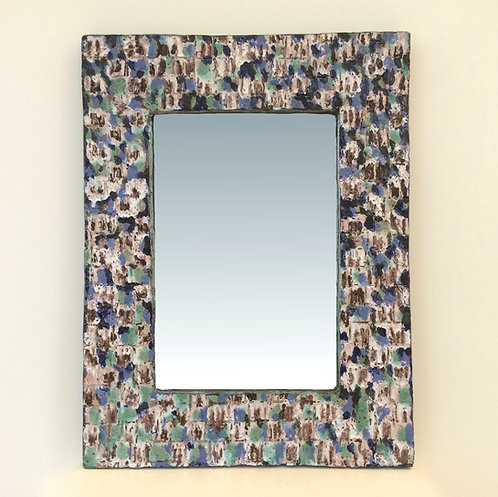 Glazed Ceramic Mirror,1963, France.