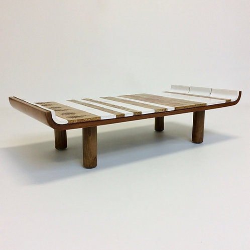 Roger Capron Pagode Model Ceramic Coffee Table, circa 1960, Vallauris, France.