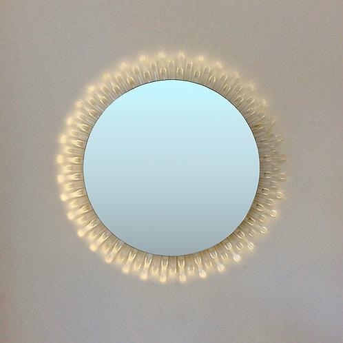 Lucite Illuminated Mirror, circa 1970, Italy.