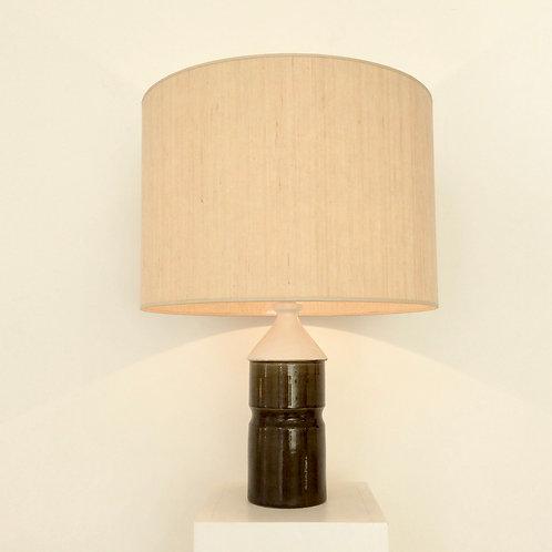 Bicolour Ceramic Table Lamp, circa 1970, France.