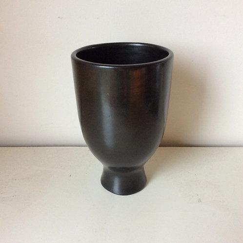 Georges Jouve Black Glazed Ceramic, circa 1950, France