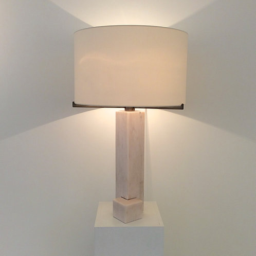 Jan Vlug Marble Table Lamp, circa 1975, Belgium.