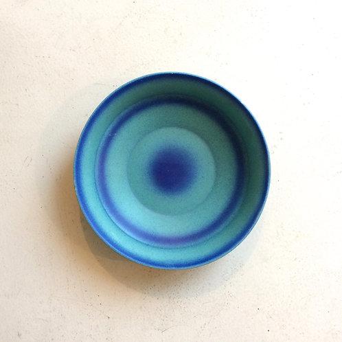 Large Blue Dish By Grete Heymann-Loebenstein Marks, circa 1930, Germany.