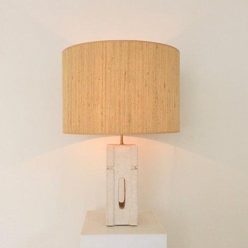 Albert Tormos Limestone Table Lamp, circa 1970, France.