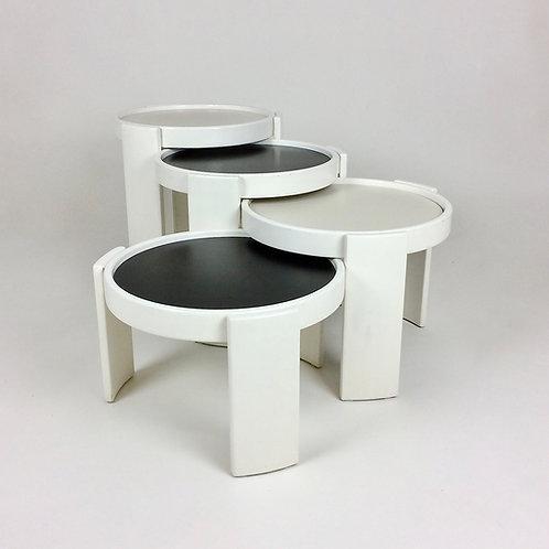 Gianfranco Frattini '780' Nesting Tables for Cassina, circa 1960, Italy.