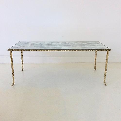 Gilt Bronze Coffee Table By Maison Baguès, circa 1950, France.