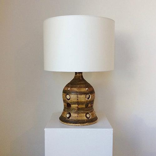 Georges Pelletier Ceramic Table Lamp, circa 1970, France.