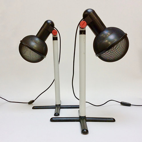 Roger Tallon Pair of Micro Table Lamps for Erco, 1972, France.