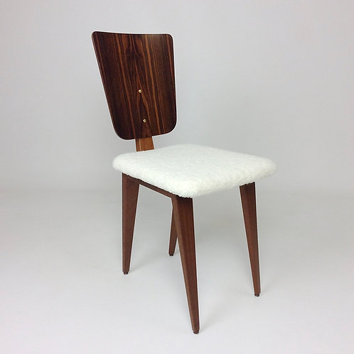 André Sornay Rosewood Chair, circa 1950, France