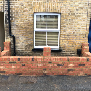 Flemish Bond Wall with Piers