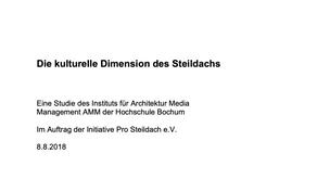 """Studie: """"Die kulturelle Dimension des Steildachs"""" für unseren Kunden dachkult.de"""